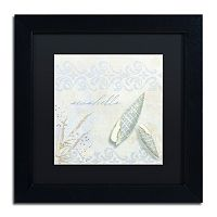 Trademark Fine Art She Sells Seashells II Black Framed Wall Art
