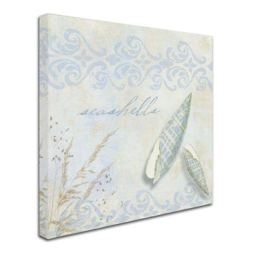 Trademark Fine Art She Sells Seashells II Canvas Wall Art