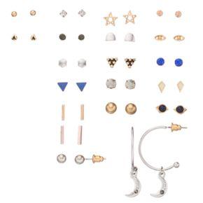 Mudd® Triangle, Star & Crescent Nickel Free Earring Set