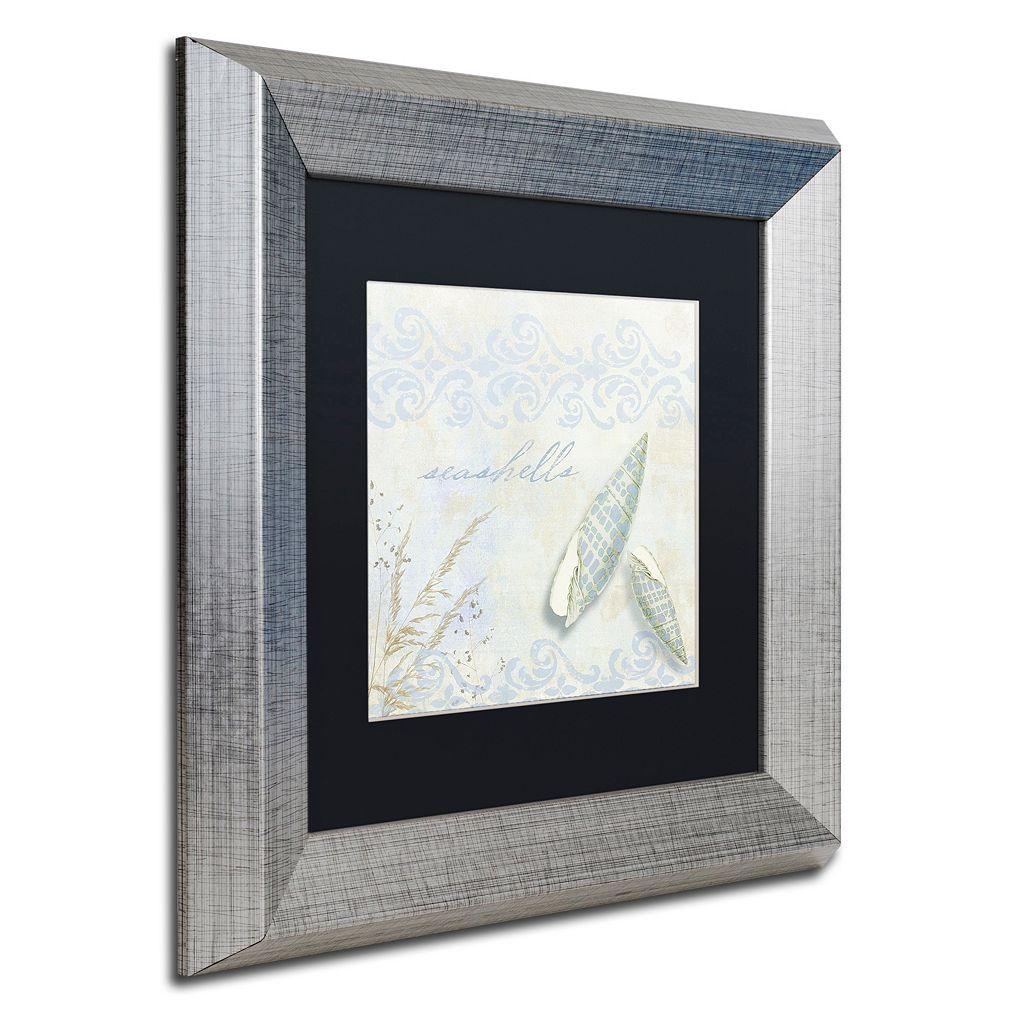 Trademark Fine Art She Sells Seashells II Framed Wall Art