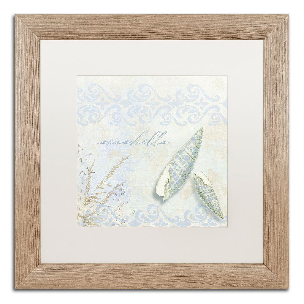 Trademark Fine Art She Sells Seashells II Distressed Framed Wall Art
