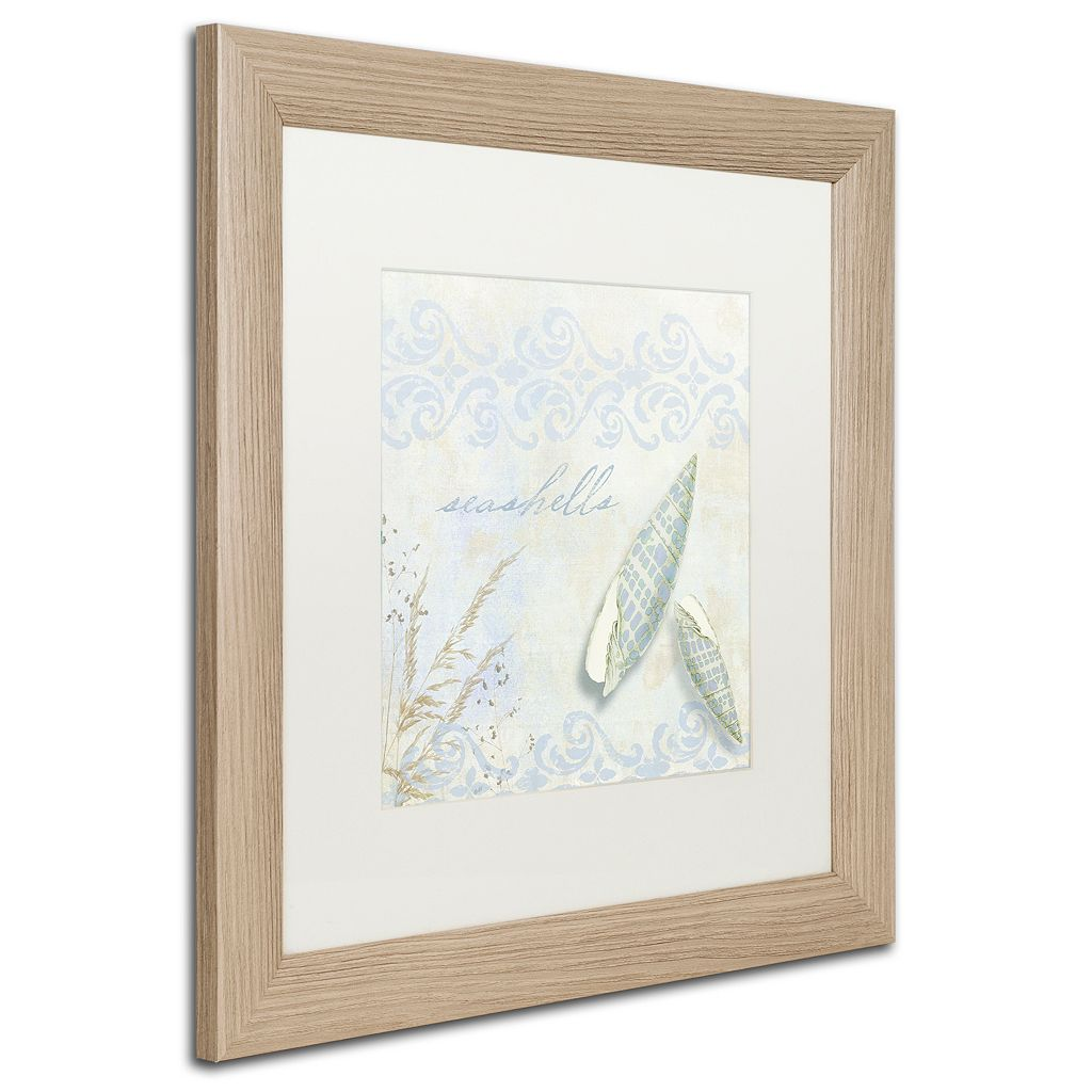 Trademark Fine Art She Sells Seashells II Distressed Framed Wall Art