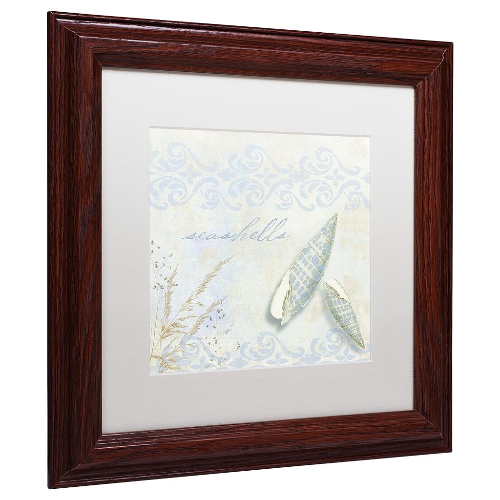 Trademark Fine Art She Sells Seashells II Traditional Framed Wall Art