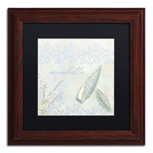 Trademark Fine Art She Sells Seashells II Traditional Framed Wall Art