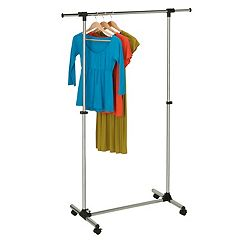Honey-Can-Do Adjustable Chrome Finish Garment Rack