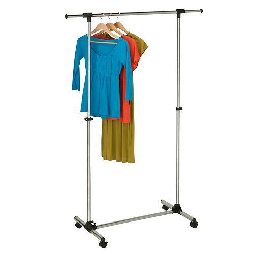 Honey-Can-Do Adjustable Chrome Finish Garment Rack