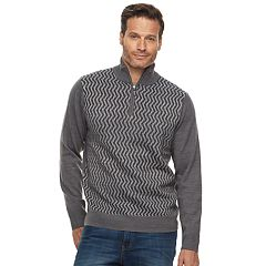 Men's Dockers Comfort Touch Classic-Fit Colorblock Quarter-Zip Sweater