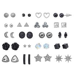 Mudd® Star, Heart & Crescent Nickel Free Stud Earring Set