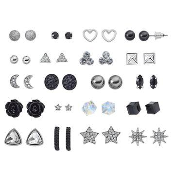 Mudd® Star, Heart & Crescent Nickel Free Stud Earring Set