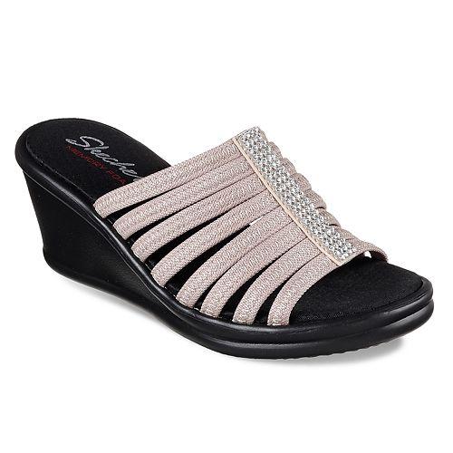 9555e9c633 Skechers Rumblers Hotshot Women's Wedge Sandals