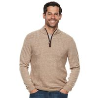 Men's Dockers Comfort Touch Classic-Fit Textured Quarter-Zip Sweater