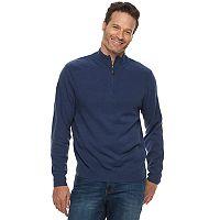 Men's Dockers Comfort Touch Classic-Fit Textured Quarter-Zip Sweater