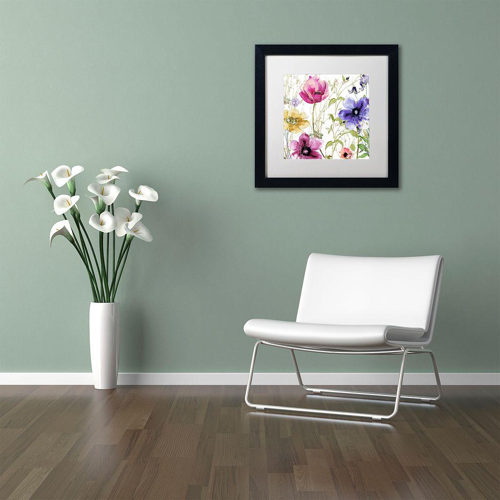 Trademark Fine Art Summer Diary I Black Framed Wall Art