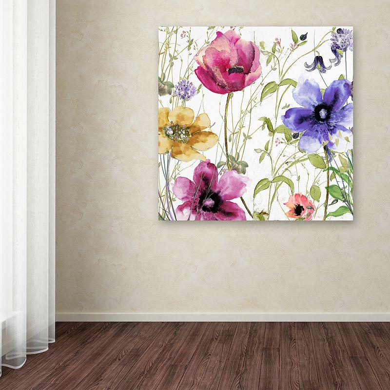 Trademark Fine Art Summer Diary I Canvas Wall Art. Pink. 35X35