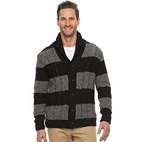 Men's Dockers® Regular-Fit Striped Wool-Blend Shawl-Collar Cardigan