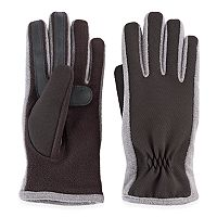 Women's Isotoner Stretch Ottoman Fleece smarTouch smartDRI Tech Gloves