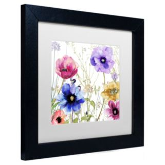 Trademark Fine Art Summer Diary II Black Framed Wall Art