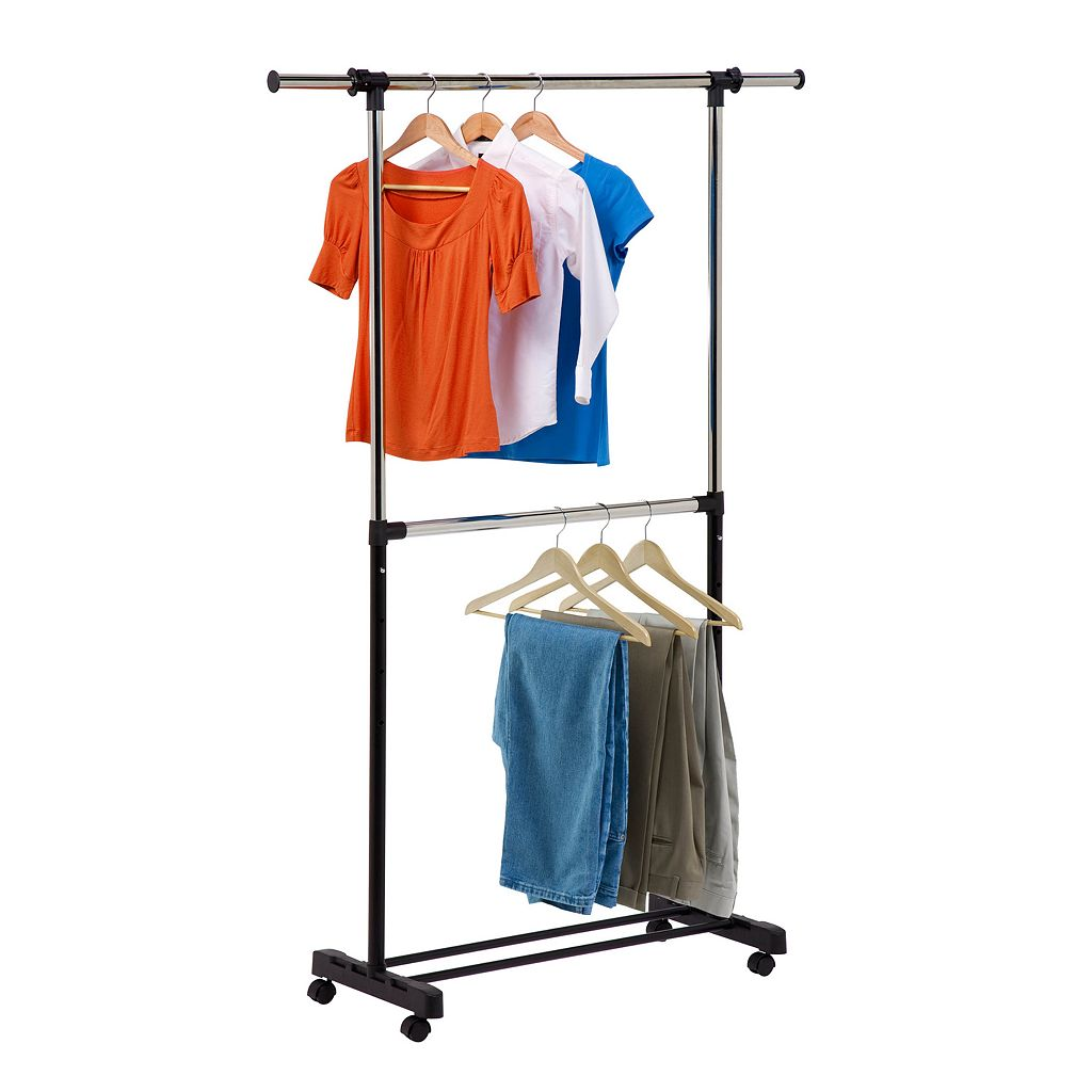 Honey-Can-Do Adjustable 2-Rod Garment Rack