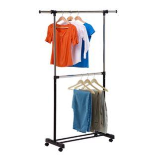 Honey-Can-Do Adjustable 2-Rod Garment Rack