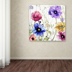 Trademark Fine Art Summer Diary II Canvas Wall Art