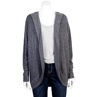 Juniors' Grayson Threads Hooded Cocoon Cardigan
