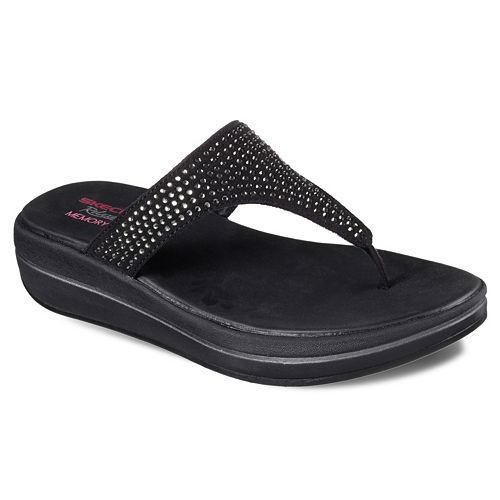 Skechers Relaxed Fit Upgrades Stones Women's Wedge Sandals