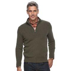 Men's Croft & Barrow® True Comfort Classic-Fit Quarter-Zip Sweater