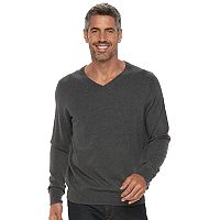Men's Croft & Barrow® True Comfort Classic-Fit V-Neck Sweater