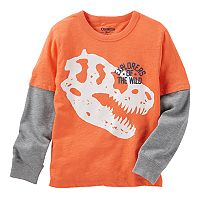 Boys 4-12 OshKosh B'gosh® Dinosaur Skelton Glow in the Dark Tee