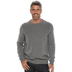 Men's Croft & Barrow® Classic-Fit Textured Yoke Crewneck Sweater