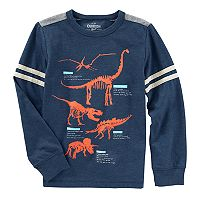 Boys 4-12 OshKosh B'gosh® Glow in the Dark Dinosaur Striped Tee