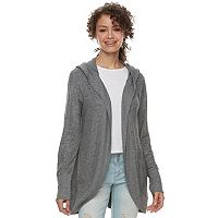 Juniors' Grayson Threads Hooded Hatchi Cocoon Cardigan
