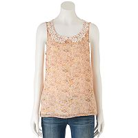 Women's LC Lauren Conrad Lace Collar Tank
