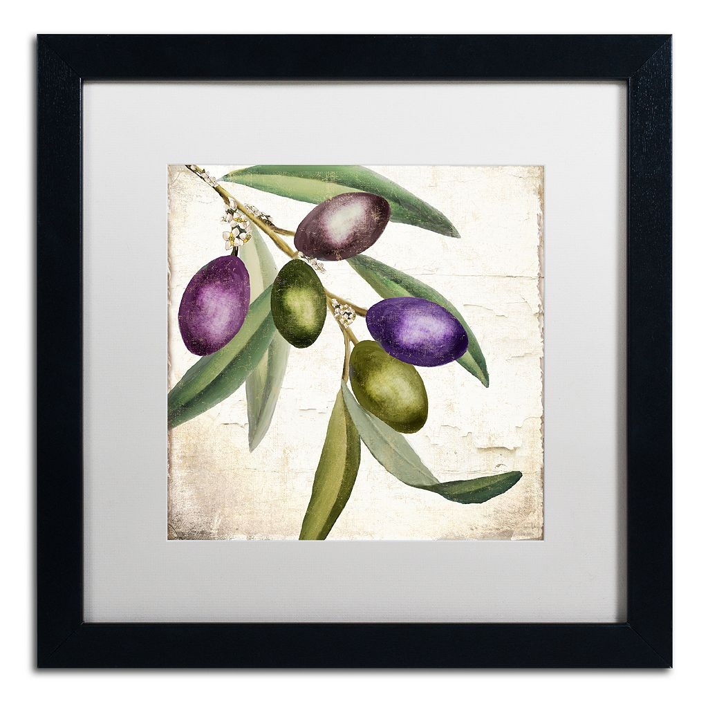 Trademark Fine Art Olive Branch I Black Framed Wall Art