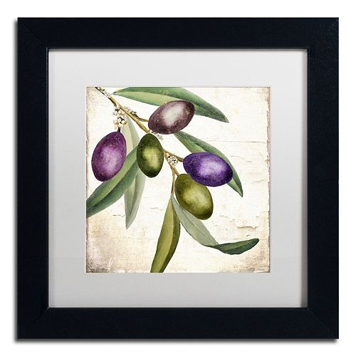 Trademark Fine Art Olive Branch I Black Framed Wall Art