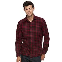 Men's Apt. 9® Modern-Fit Plaid Brushed Flannel Button-Down Shirt