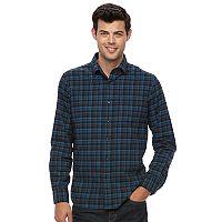 Men's Apt. 9® Modern-Fit Plaid Brushed Flannel Button-Down Shirt