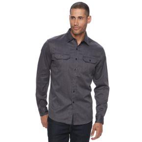 Men's Apt. 9® Premier Flex Stretch Woven Button-Down Shirt