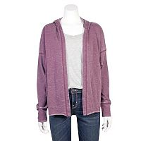 Juniors' Grayson Threads Hooded French Terry Cardigan