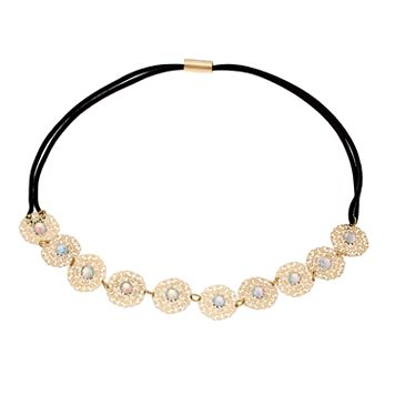 LC Lauren Conrad Filigree Disc Stretch Headband