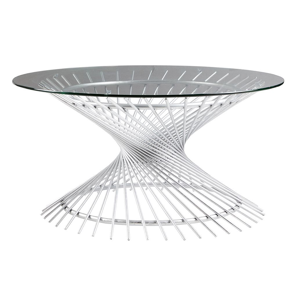 Madison Park Ava Glass Top Coffee Table