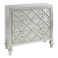 Madison Park Grayson Quatrefoil Storage Chest