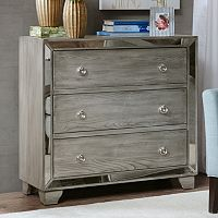 Madison Park Amelia Mirrored Storage Chest