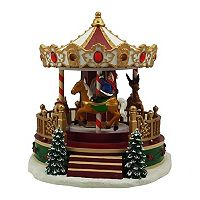 St. Nicholas Square® Village Christmas Carousel with Motion, Music and Lights