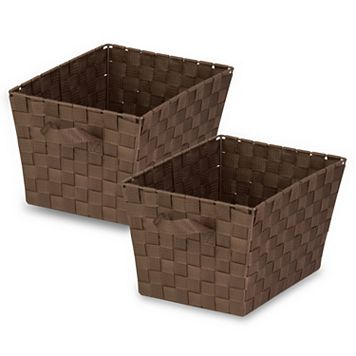 Honey-Can-Do 2-pack Small Woven Strap Totes