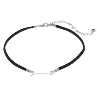 LC Lauren Conrad Arrow Faux Suede Choker Necklace