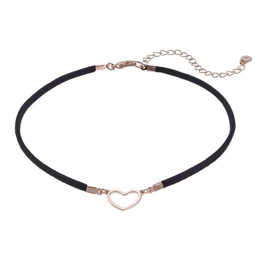 LC Lauren Conrad Heart Faux Suede Choker Necklace