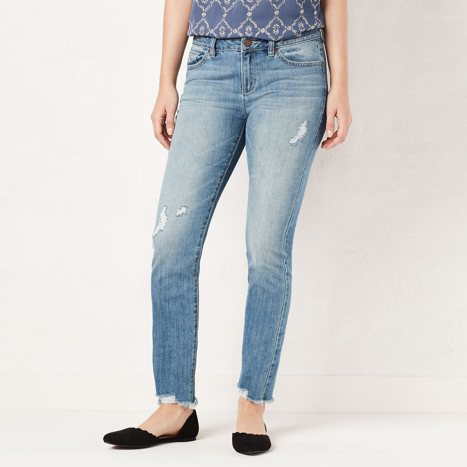 Cheap light denim skinny jeans