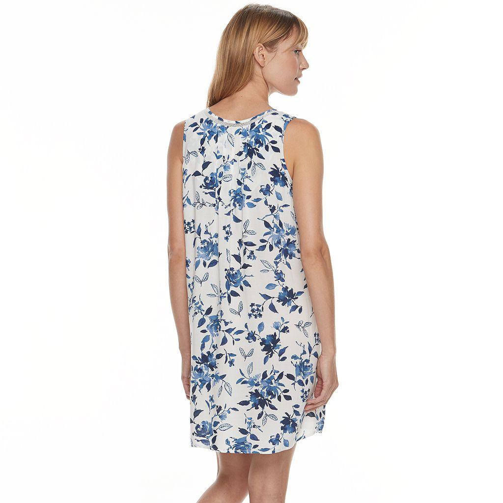 Women's Croft & Barrow® Pajamas: Vineyard Villa Sleeveless Nightgown
