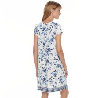 Women's Croft & Barrow® Pajamas: Vineyard Villa Short Sleeve Nightgown